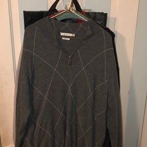 Peter Millar Merino Wool Argyle Quarter zip
